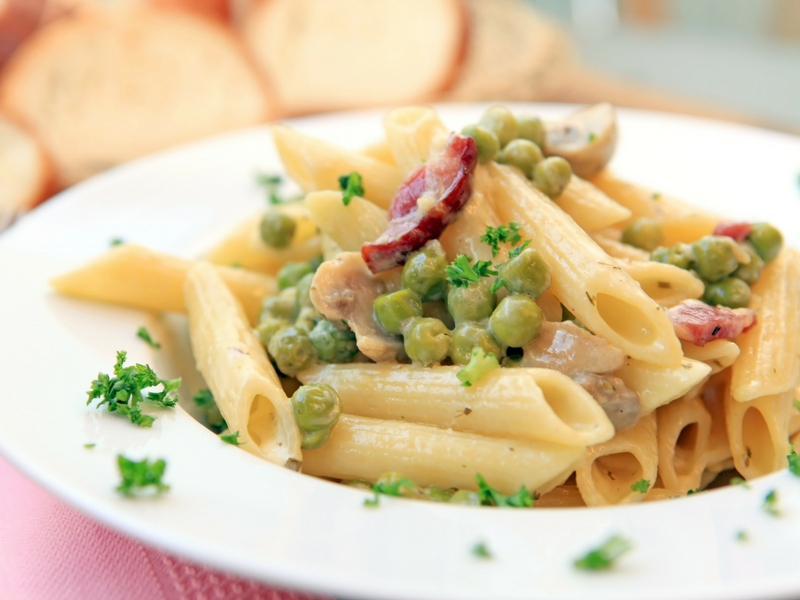 penne piselli speck Sito