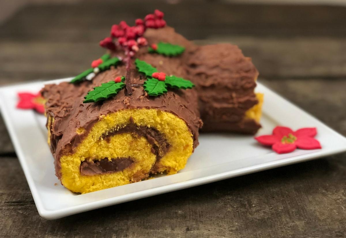 Ricetta Tronchetto Di Natale Per 10 Persone.Tronchetto Di Natale Senza Glutine